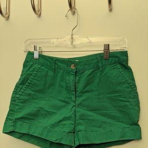 Green chinos